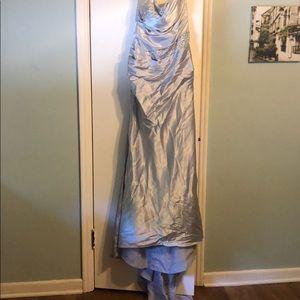 Silver Bridesmaid Dress, size 10.